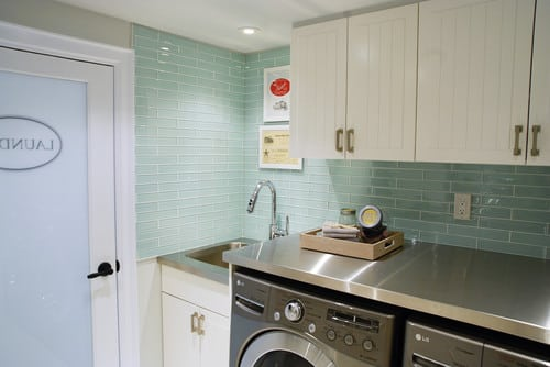 Give Your Laundry Room a New Look with a Glass Tile Backsplash - Conestoga  Tile