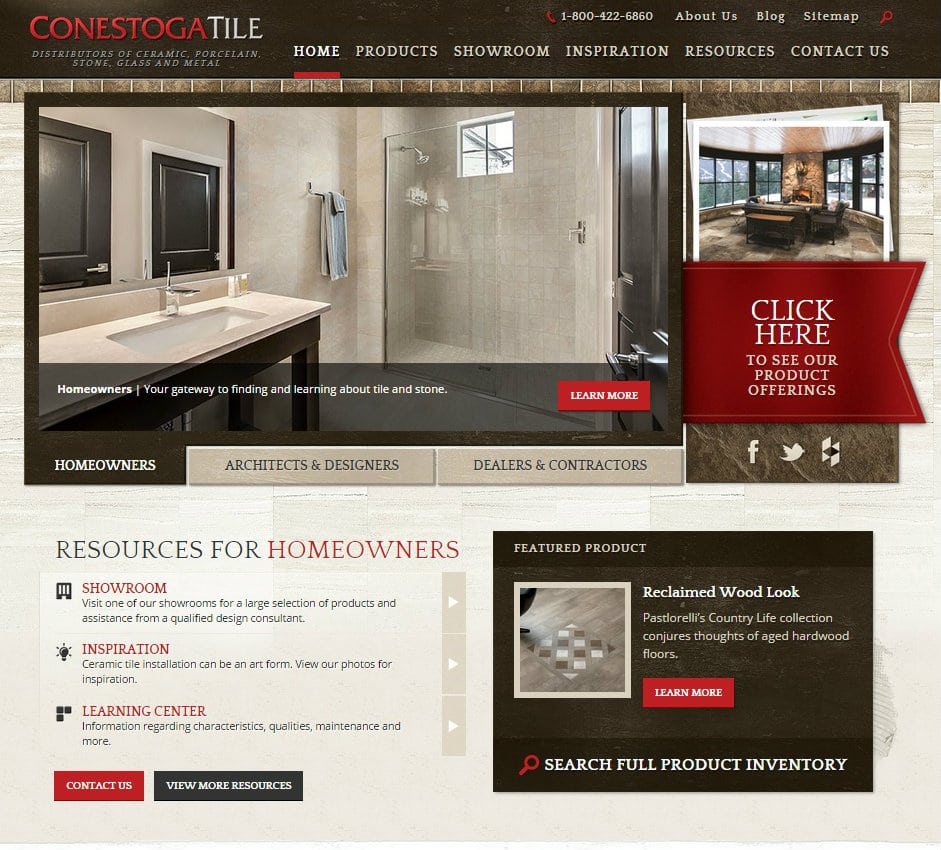 Conestoga Tile website launch
