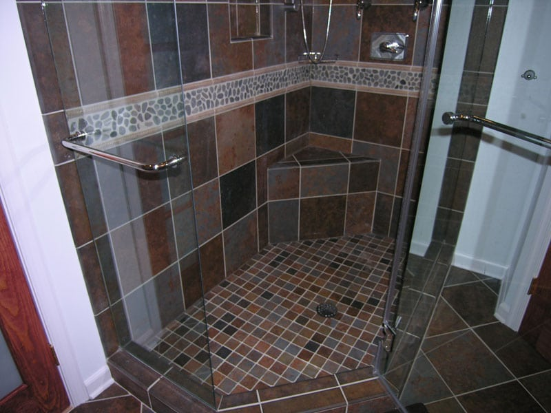 make your small shower look bigger with proper tiling