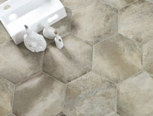 hexagon shaped tiles