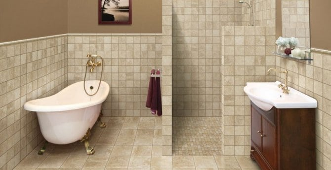 How to make a small bathroom feel larger conestoga tile How to make a small bathroom look larger