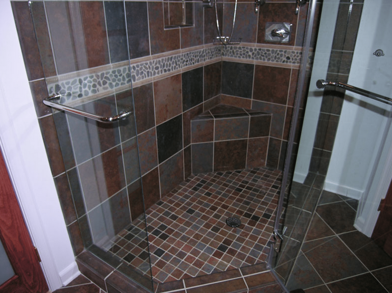 Height To Install Shower Accent Tiles