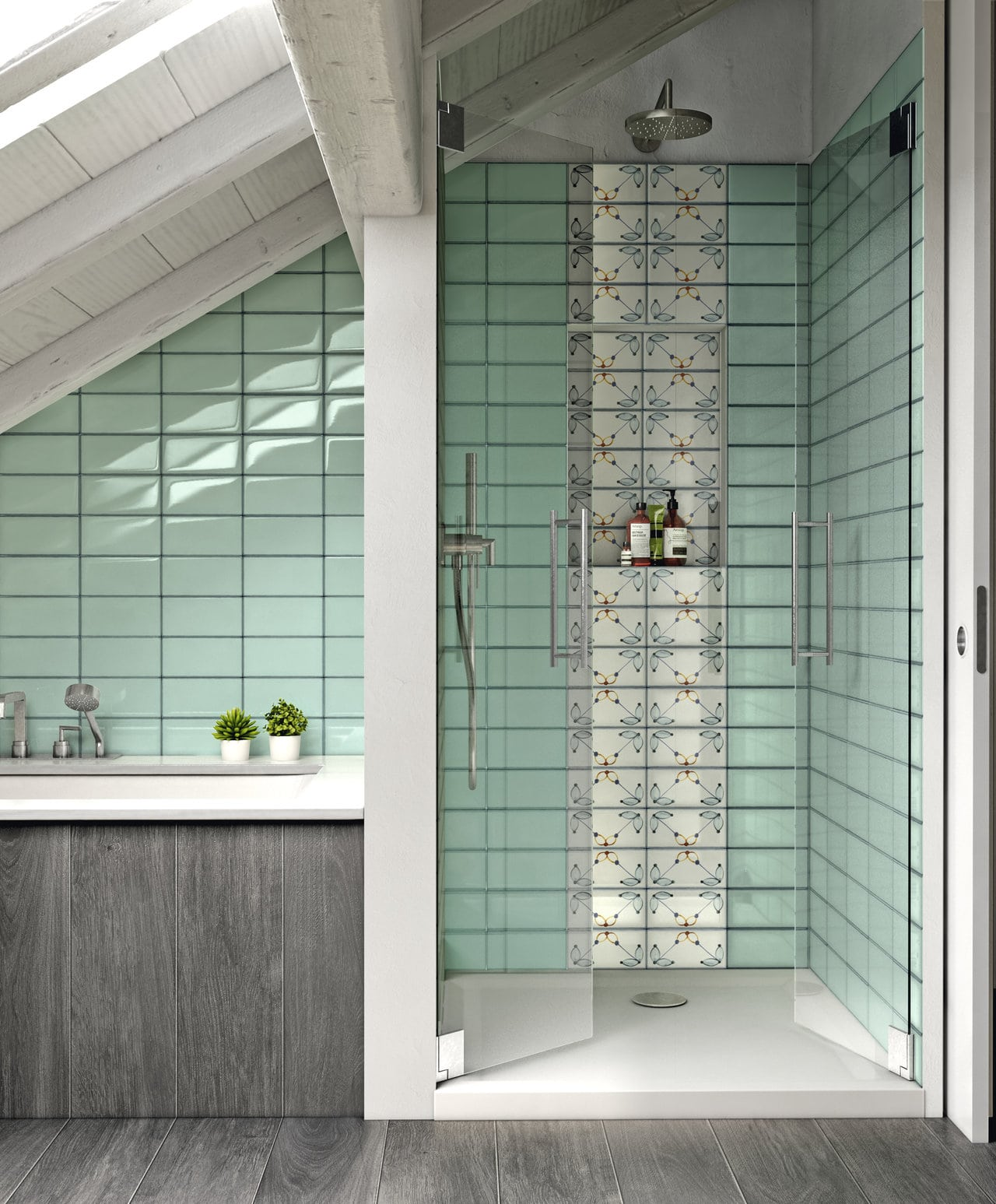 Bathroom Glass Tile Mosaics Amp Marble Tile Northern