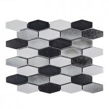 Lava Stone - Galvanized Elongated Hex