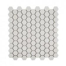 """Ivory 1"""" Hexagon"""