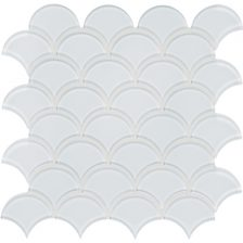 Pure White Scallop Mosaic