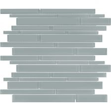 Quiet Gray Random Strip Mosaic