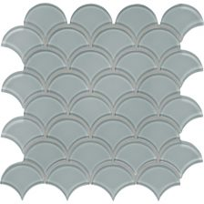 Quiet Gray Scallop Mosaic