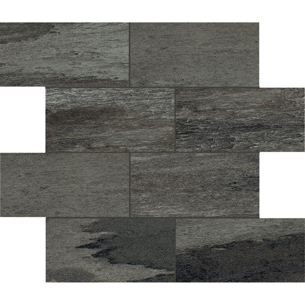"Black 3"" x 6"" Offset Mosaic"