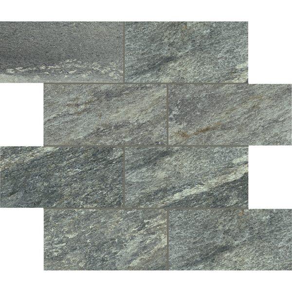 """Green 3"""" x 6"""" Offset Mosaic"""