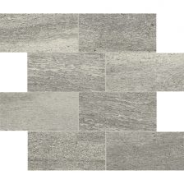 "Grey 3"" x 6"" Offset Mosaic"