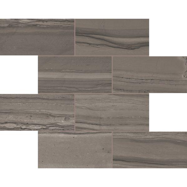 "Amazonian Bark 3"" x 6"" Brick Mosaic"