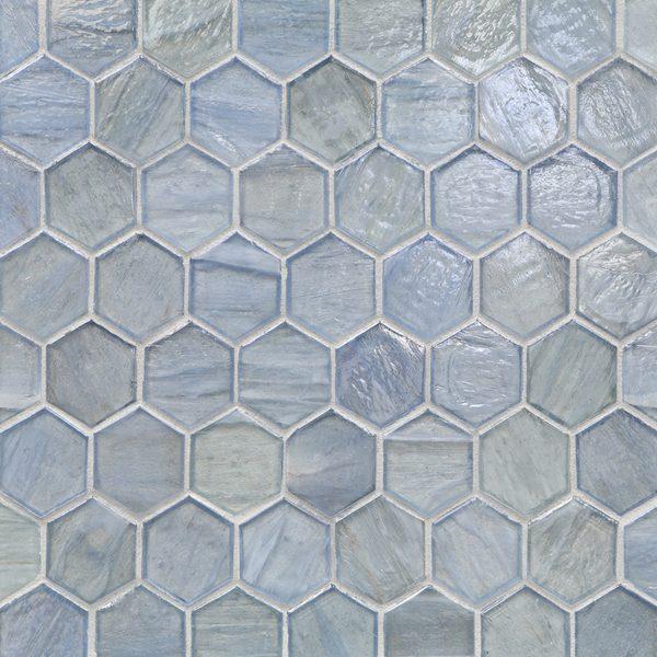 "Aero Pearl 2"" Hexagon Mosaic"