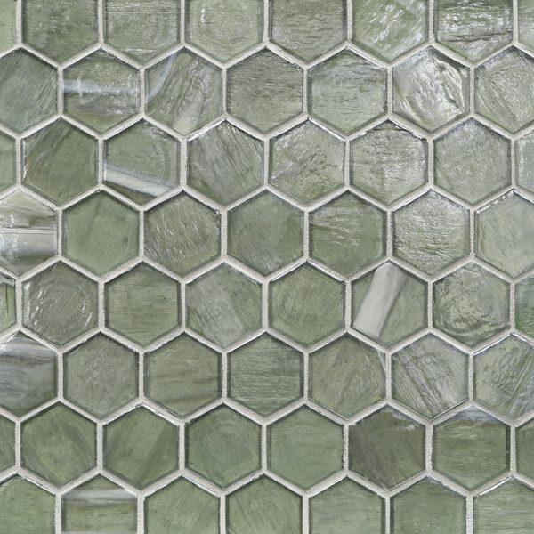 """Aurora Pearl 2"""" Hexagon Mosaic"""
