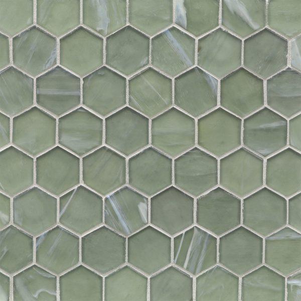 "Aurora Silk 2"" Hexagon Mosaic"