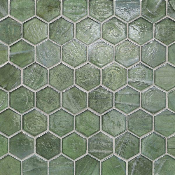 """Bamboo Garden Pearl 2"""" Hexagon Mosaic"""