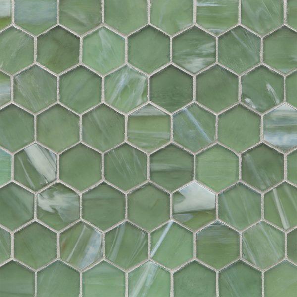 """Bamboo Garden Silk 2"""" Hexagon Mosaic"""
