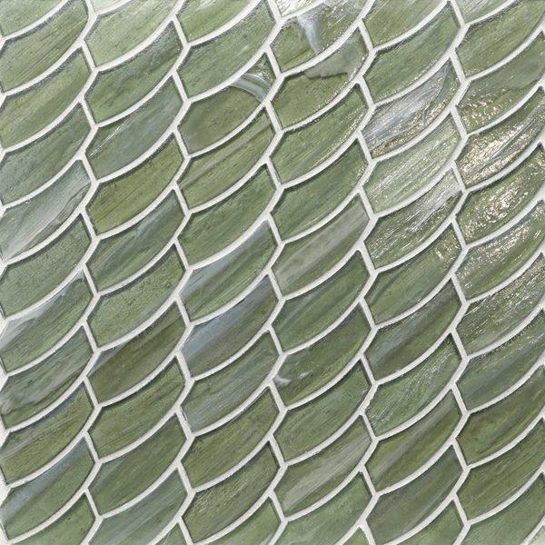 Bamboo Garden Pearl Feather Mosaic
