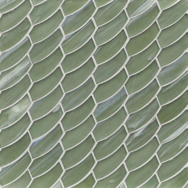 Bamboo Garden Silk Feather Mosaic
