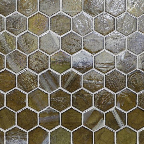 "Earthy Pearl 2"" Hexagon Mosaic"