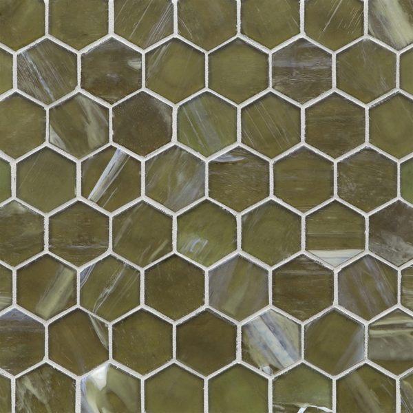 "Earthy Silk 2"" Hexagon Mosaic"