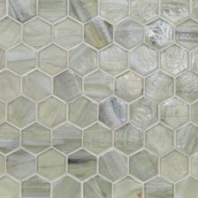 "Elevation Pearl 2"" Hexagon Mosaic"