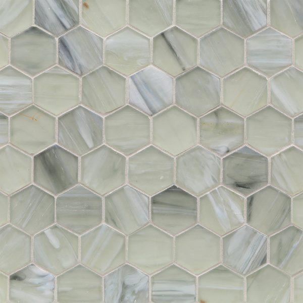 "Elevation Silk 2"" Hexagon Mosaic"