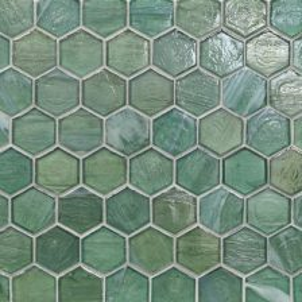 "Intrigue Pearl 2"" Hexagon Mosaic"
