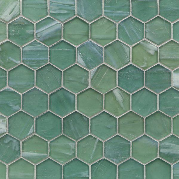 """Intrigue Silk 2"""" Hexagon Mosaic"""