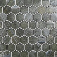 "Mettle Pearl 2"" Hexagon Mosaic"