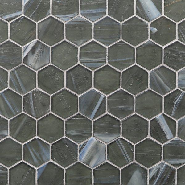 "Mettle Silk 2"" Hexagon Mosaic"