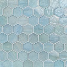 "Mineral Springs Pearl 2"" Hexagon Mosaic"