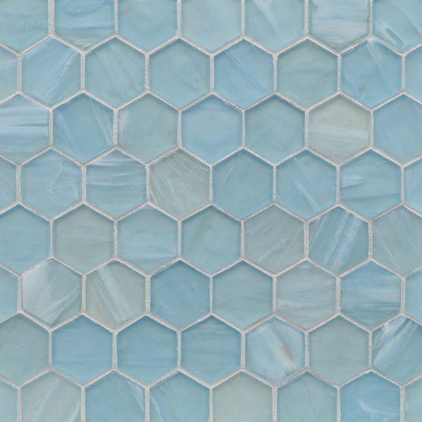 """Mineral Springs Silk 2"""" Hexagon Mosaic"""