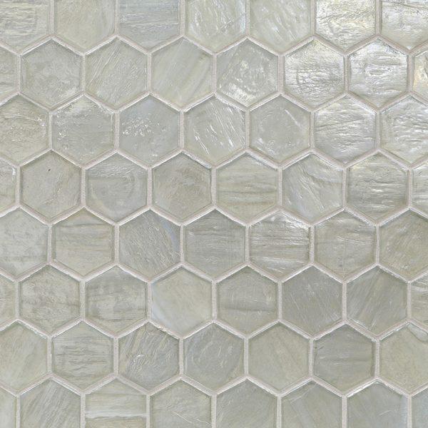 "Moonlit Pearl 2"" Hexagon Mosaic"