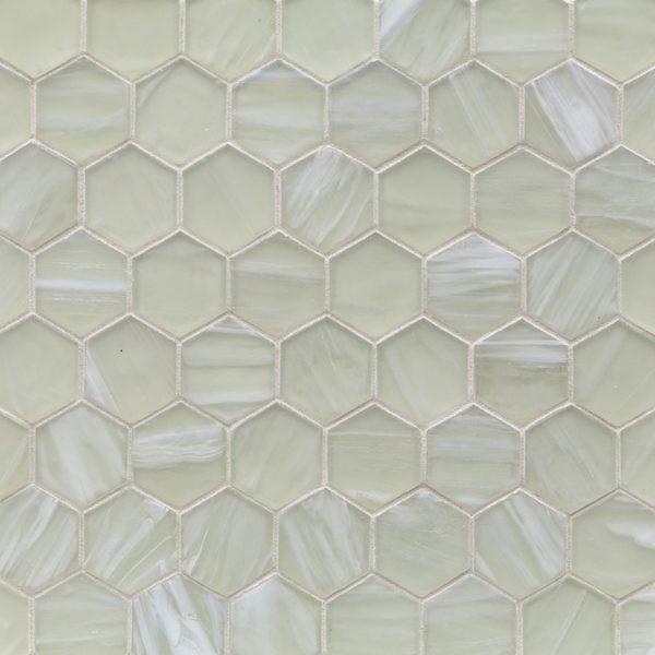 """Moonlit Silk 2"""" Hexagon Mosaic"""