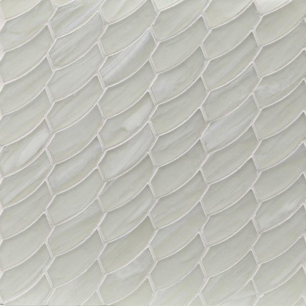 Moonlit Silk Feather Mosaic