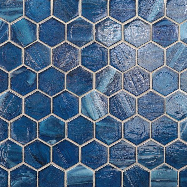 "Sani Pearl 2"" Hexagon Mosaic"