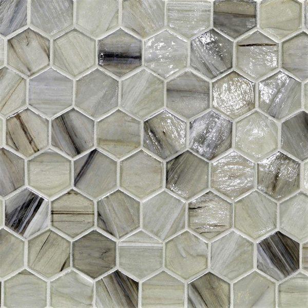 """Sugar Cake Pearl 2"""" Hexagon Mosaic"""