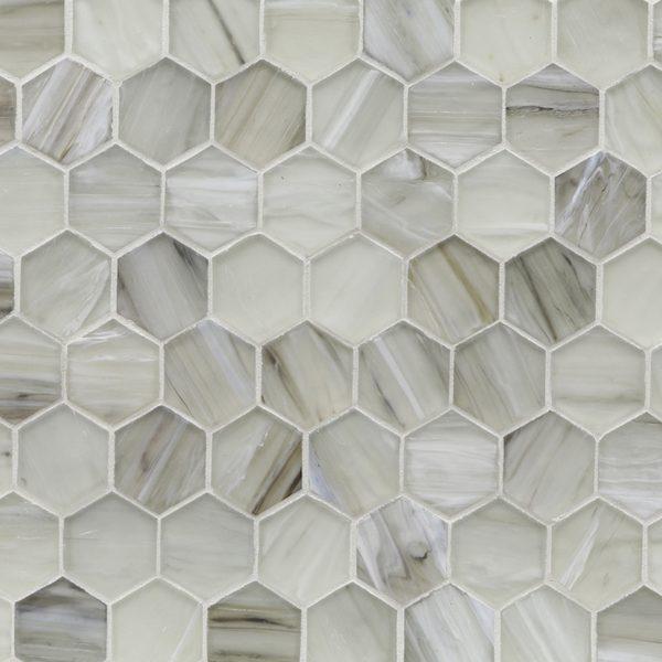 "Sugar Cake Silk 2"" Hexagon Mosaic"
