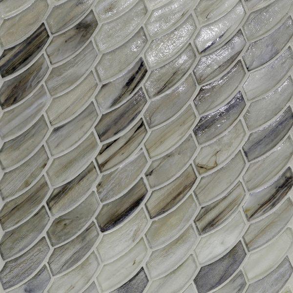 Sugar Cake Pearl Feather Mosaic