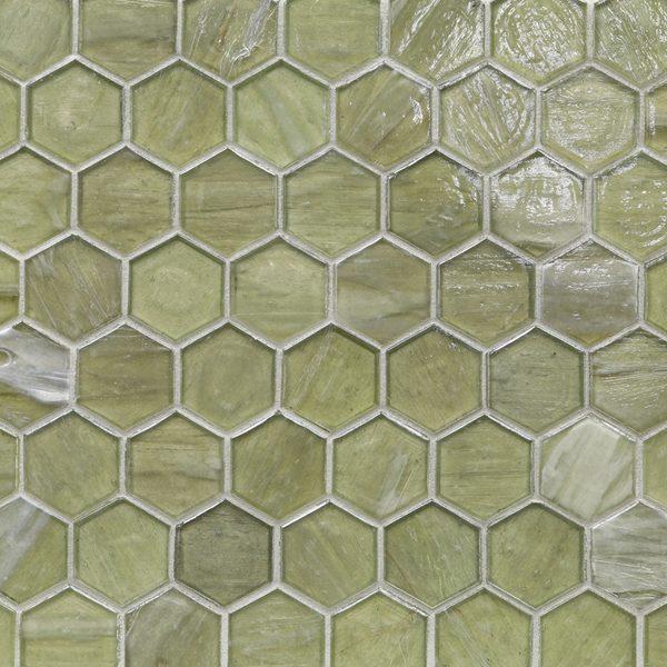"Zephyr Pearl 2"" Hexagon Mosaic"