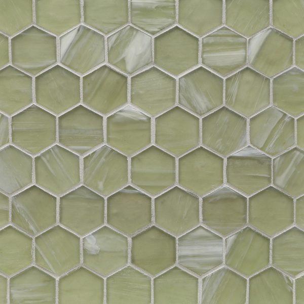 "Zephyr Silk 2"" Hexagon Mosaic"