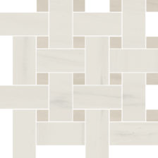 White Basketweave Mosaic