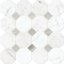 Carrara Octagon w/ Dot