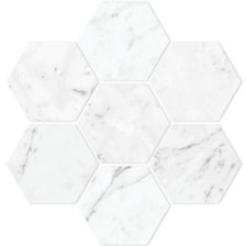 "Carrara 4"" Hexagon"