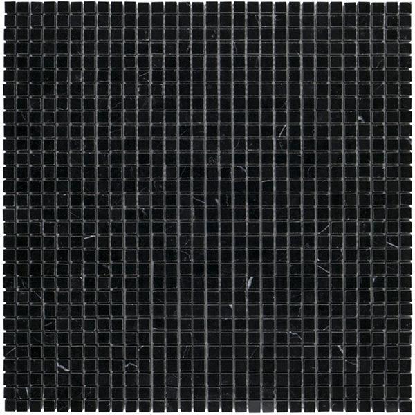 """Nero Marquina 3/8"""" Mosaic"""