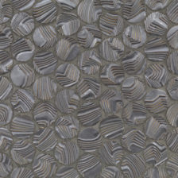 Namibia \ Dark Silver Round Ripples Mosaic