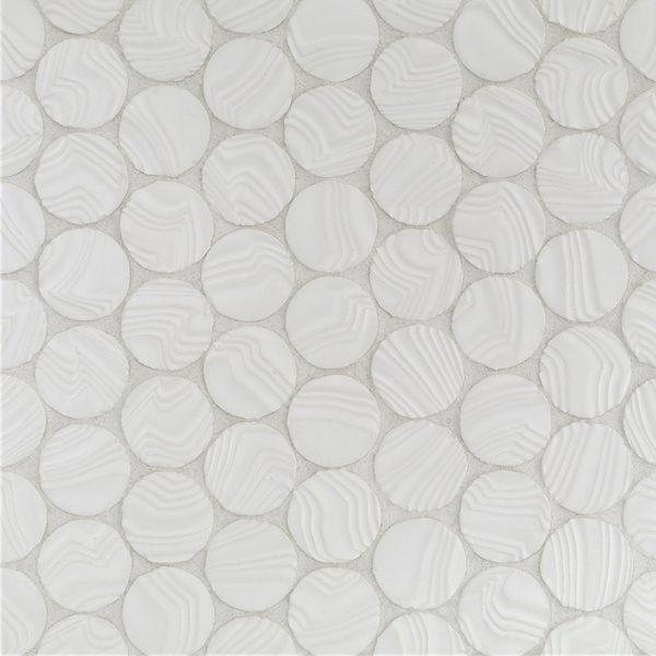White Sand Round Ripples Mosaic