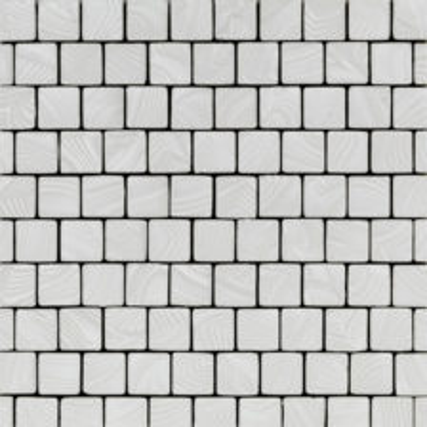 White Sand Square Ripples Mosaic