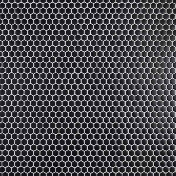 "Black 5/8"" Hexagon Mosaic"